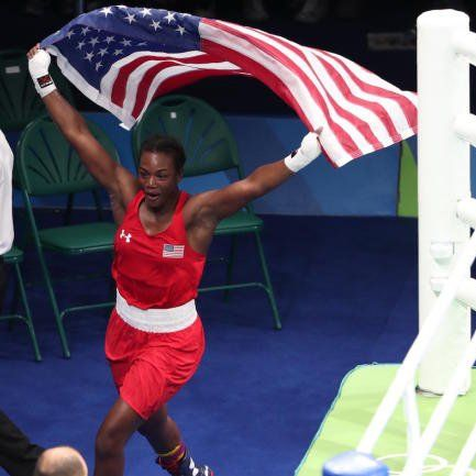 21 YEAR OLD CLARESSA SHIELDS GOLDEN AGAIN!! USA's Claressa Shields Wins GOLD in Rio def. NED's Nouchka Fontjin in women's Middleweight 75KG. Claressa 1st In History To Successfully Defend Her Boxing GOLD! 8/21/16
