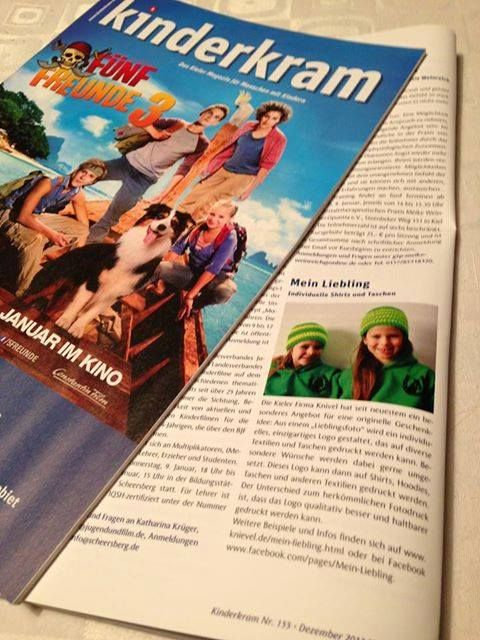 "Schaut doch mal in das aktuelle ""Kinderkram""-Magazin ;-))   http://www.kinderkram-sh.de/"