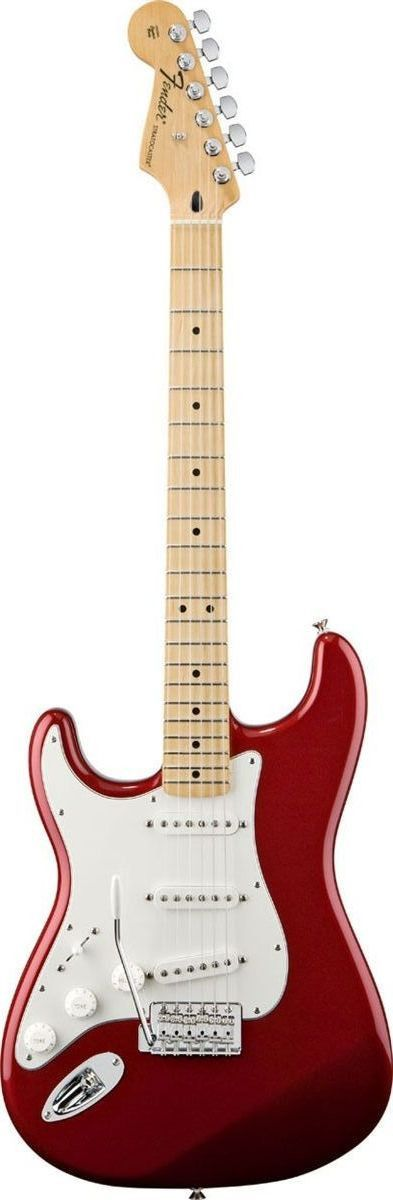 Fender Left-Handed Standard Stratocaster The left-handed Standard Stratocaster guitar offers legendary Fender tone with classic styling. Features include three single-coil pickups, synchronized tremol