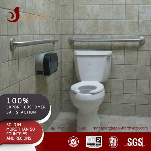 Factory price satin ground/wall mounted grab bar for WC