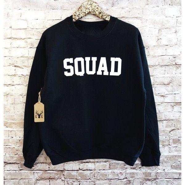 Squad Sweatshirt Squad Shirt Squad Jumper Fleece Crewneck Sweatshirt... ($19) ❤ liked on Polyvore featuring tops, hoodies, sweatshirts, grey, women's clothing, grey sweat shirt, gray shirt, gray sweatshirt, grey crew neck sweatshirt and crew-neck sweatshirts