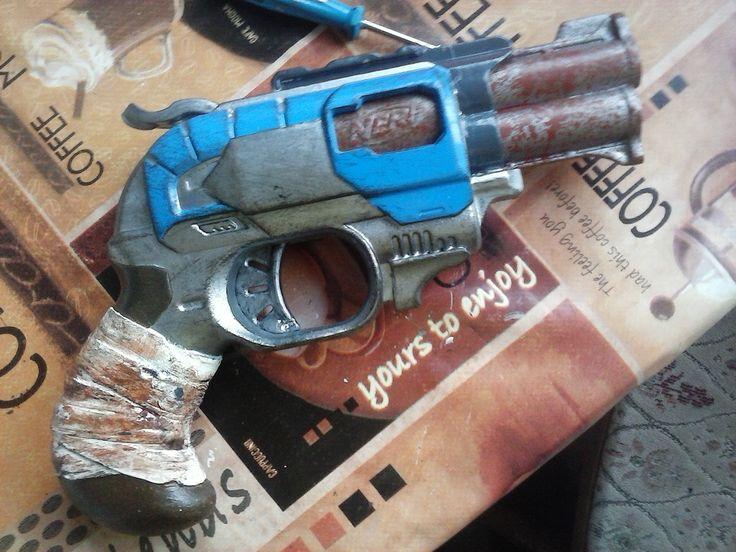 Nerf Doublestrike paintjob zombie endzeit