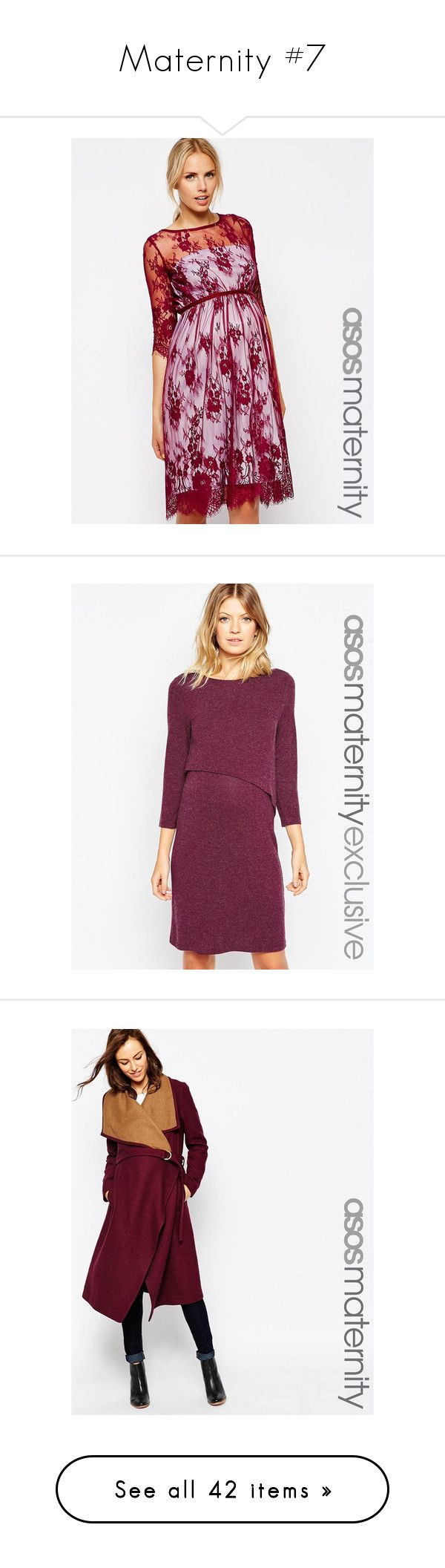"""""""Maternity #7"""" by crownprincesselizabeth ❤ liked on Polyvore featuring maternity, greypeach, red, berry, multi, ivory slip, dresses, midi dress, going out dresses and maxi party dresses"""