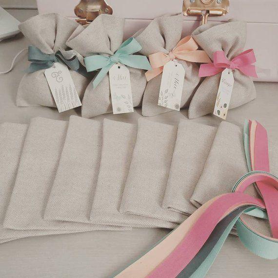 Sacchetti Confetti Sacchetti Bomboniera Sacchetti Personalizzati Sacchetti Matrimonio Sacc Handmade Gifts For Boyfriend Diy Wedding Favors Fabric Gift Bags