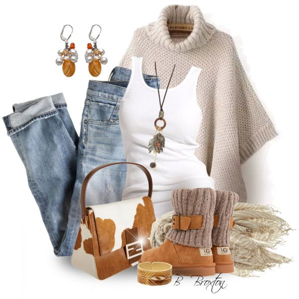 Boots & a Sweater, created by bbroxton on Polyvore