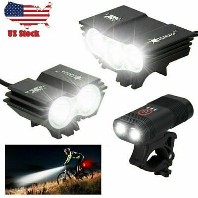 Sponsored Ebay Super Power 15000lm Led Mountain Bike Front Light Bicycle Headlamp Taillight In 2020 With Images Bicycle Lights Bike Lights Bike Front Light