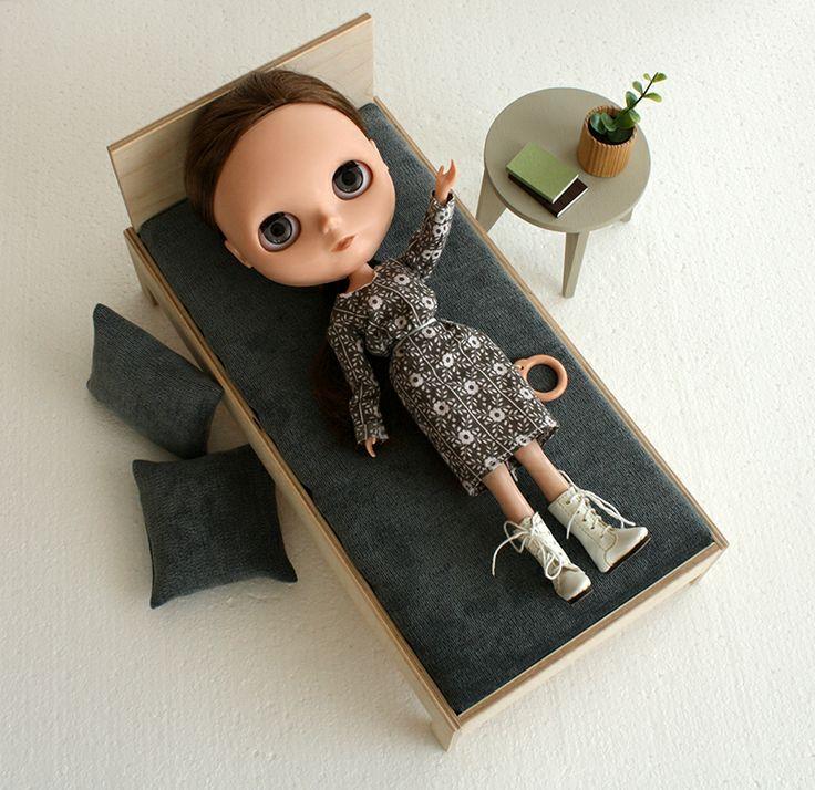 1/6 bed  #playscale #minimagine #fashiondoll #furniturefordolls