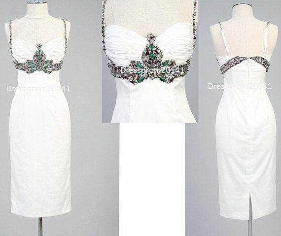 White prom dresses,Homecoming dresses  White prom dressesBridal gownsMother's by DressProm20141 on Etsy, $133.00
