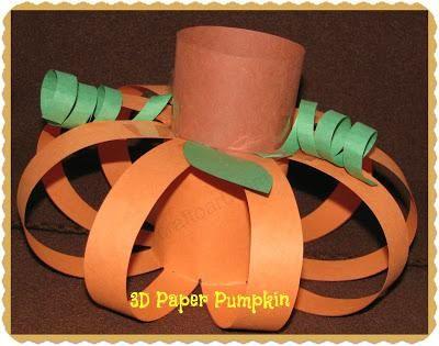"DIY Tutorial: DIY Halloween / DIY ""3D"" Paper Pumpkins"