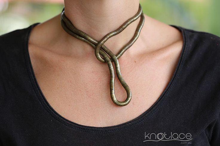 'Original' Knotlace bendy necklace & accessory. Antique/Rose Gold. 'Original' Knotlace bendy necklace & accessory. Antique/Rose Gold. - http://www.knotlace.com.au/ #style #fashion #accessory #jewellery #goldaccessory