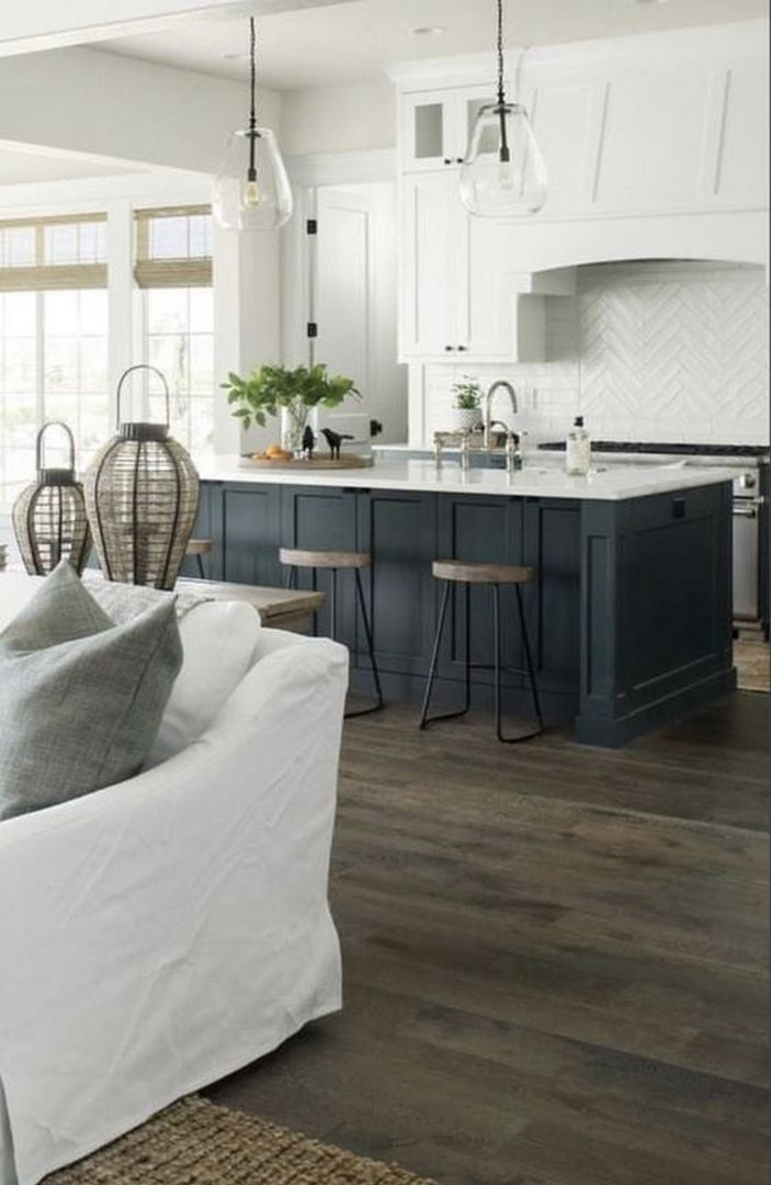 36 Most Desirable Decoration Your Totally Modern Black And White Kitchen 29 Black Decoratio In 2020 White Kitchen Design Kitchen Island Decor Modern Kitchen Design
