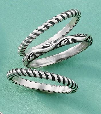 Small Twisted Wire Rings and Renaissance Band #JamesAvery