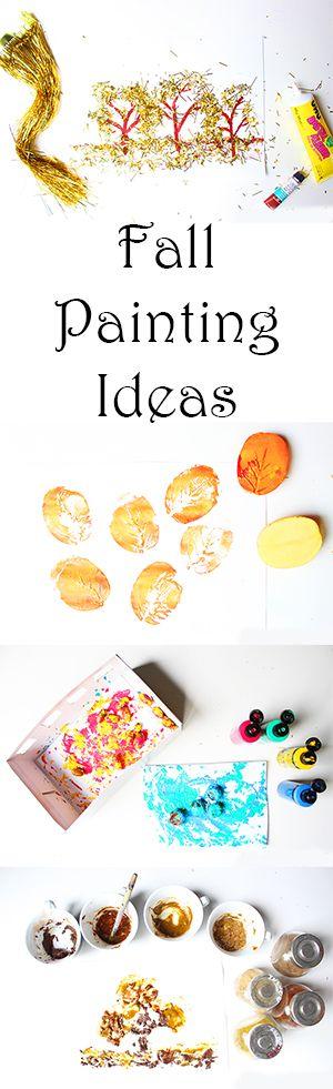 4 ideen zum malen im herbst mit kindern video malen mit kindern und kleinkindern pinterest. Black Bedroom Furniture Sets. Home Design Ideas