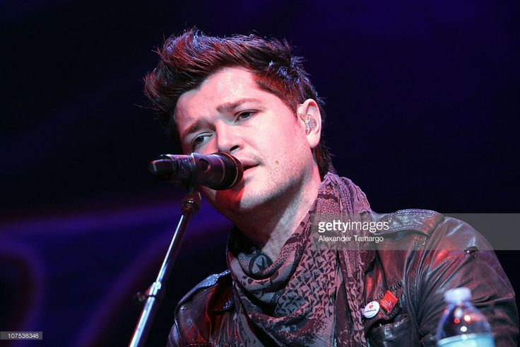 Danny O'Donoghue of the band The Script performs during the Y100 Jingle Ball at…