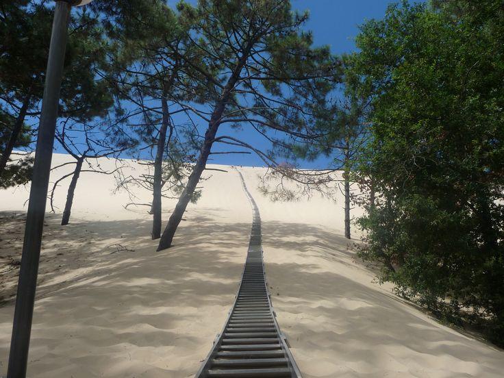 Dune du Pilat, France : en route, vers le Ciel ;-)