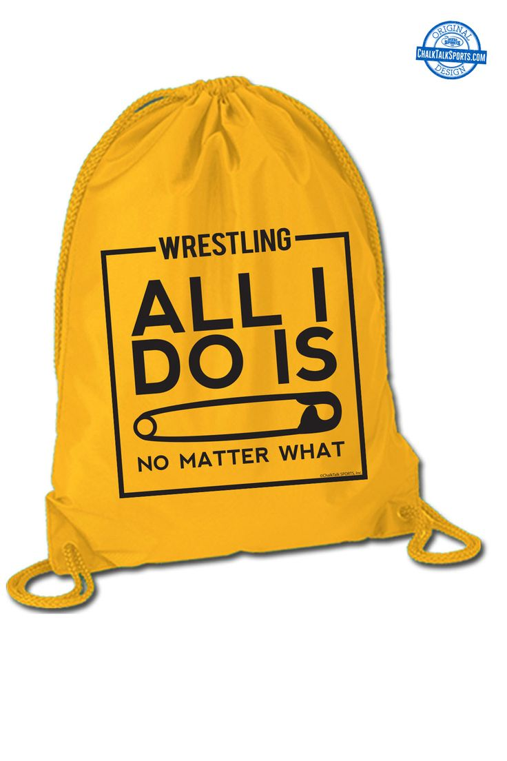 All I Do Is Pin wrestling bag from ChalkTalkSPORTS.com!
