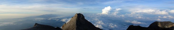 A view from the summit of Mount Kinabalu, Borneo