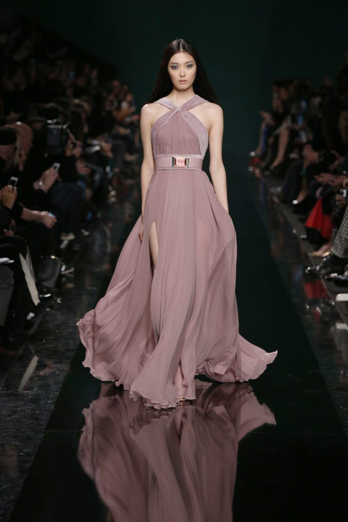 ELIE SAAB Ready-to-Wear Fall Winter 2014-2015  Instead of the felt detailing add crystals for a relaxed look
