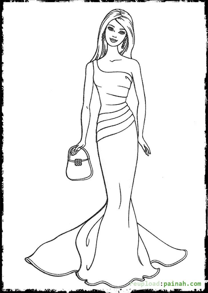 Barbie Shopping Coloring Pages