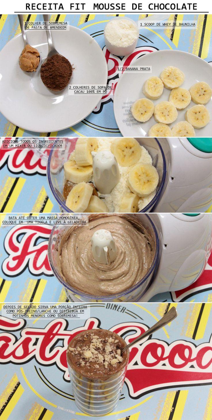 Como praticamente todas minhas receitas, a mousse de chocolate fit é absurdamente fácil e rápida de se fazer. Usando os ingredientes ade...