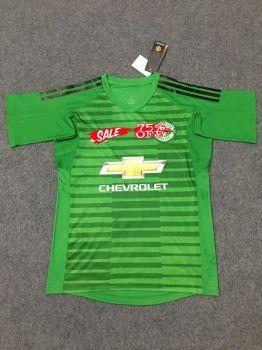 5fee4efdad4 2018-19 Cheap Goalie Jersey Manchester United Green Replica Soccer Shirt   CFC942