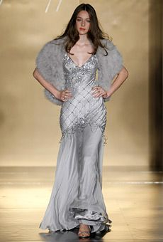 Jenny Packham Hollywood bridal in silver
