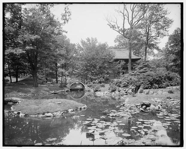 Displaying 1910 Japanese Garden, Fairmount Park, Philadelphia, Pond And  Gate View