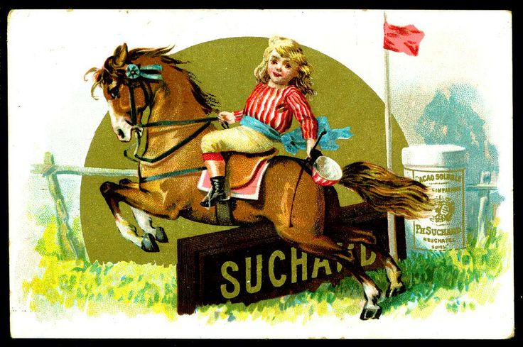 French Tradecard - Suchard Chocolate c1892.