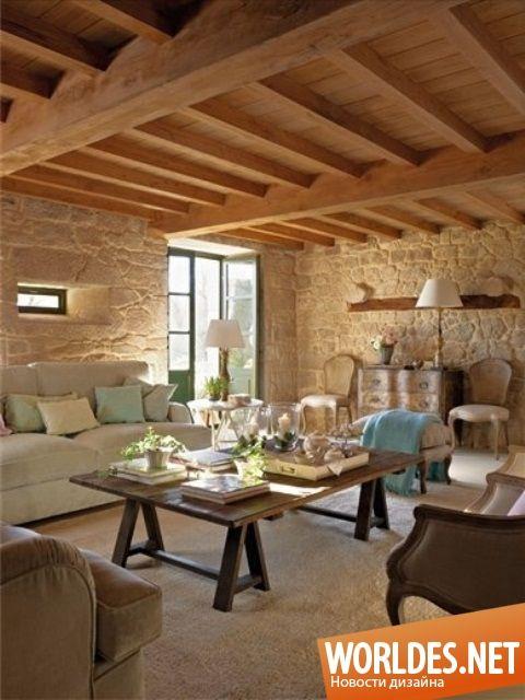 Уютные гостиные в деревенском стиле фото 46