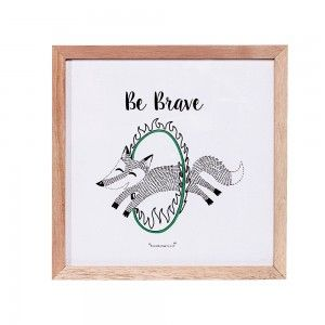 Obrazek w ramce, lisek cyrkowiec Be Brave - Bloomingville