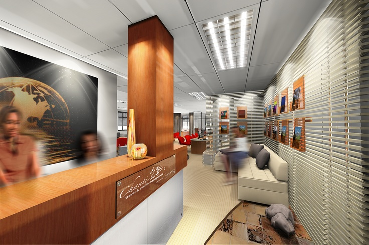 8 best travel agency interiors images on pinterest for Travel agency office interior design