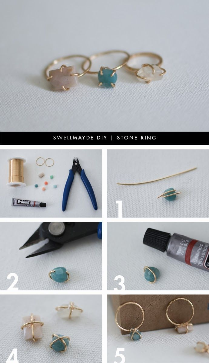 •{ Tbh, these are my favorite types of rings! This is definitely gonna be my next project. }•   More DIY here: http://www.sewinlove.com.au/category/fashion/accessories-fashion/