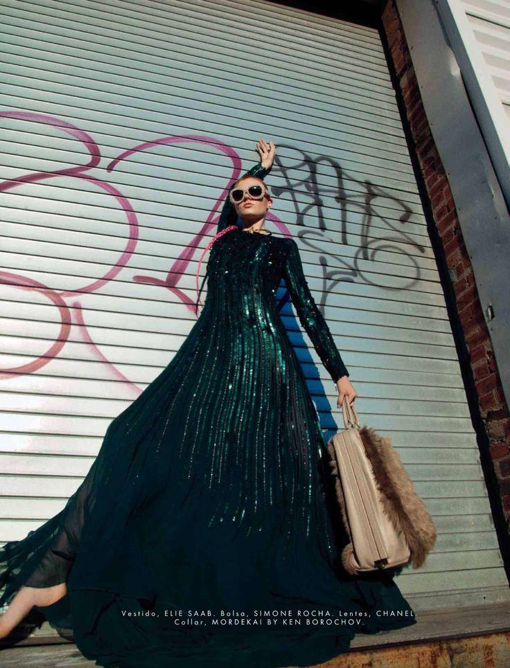 #AnastasiaIvanova by #Anairam for #ElleMexico December 2014