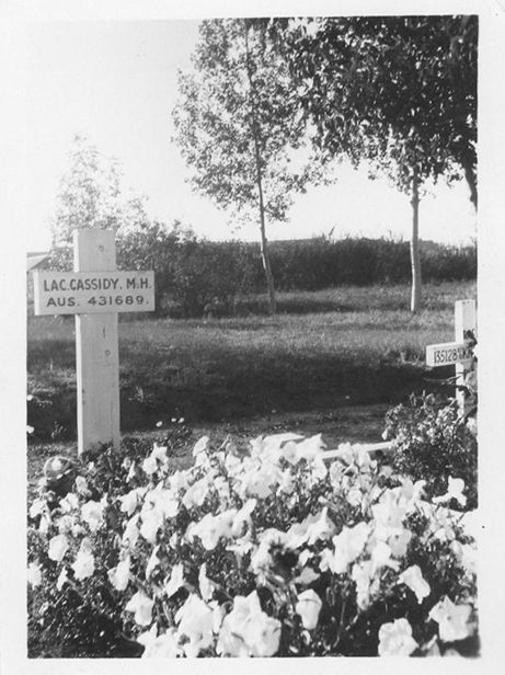 Maxwell Cassidy of the Royal Australian Air Force travelled to Canada to train as a pilot, but he was killed in an accident, and his body remains buried in North Battleford, Saskatchewan.