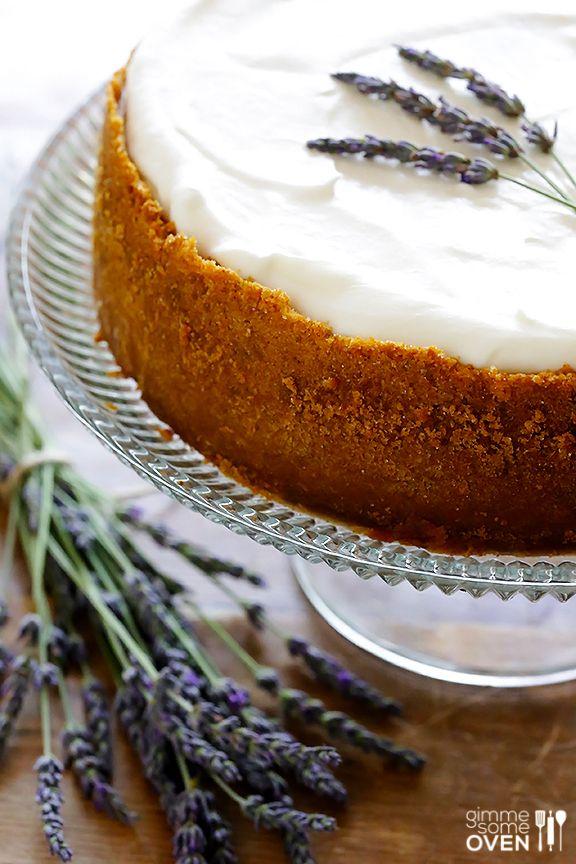 Lavender Cheesecake | gimmesomeoven.com
