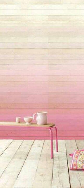 Ombre walls- wooden floor?!