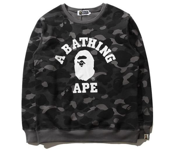 dbcab5cae7b4 BAPE A Bathing Ape Grey Camo Sweatshirt Sweathsirts come with all BAPE tags  and bags. Very comfortable o-neck fit. Material  Premium Cotton