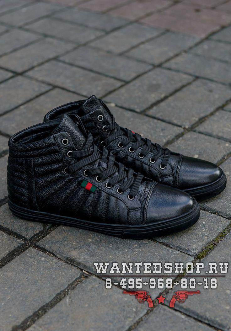 Зимние кожаные ботинки Gucci - WANTED | Магазин модной мужской одежды