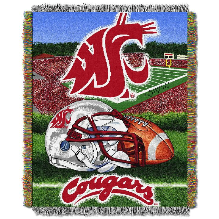 "Washington State College """"Home Field Advantage"""" 48x60 Tapestry Throw"
