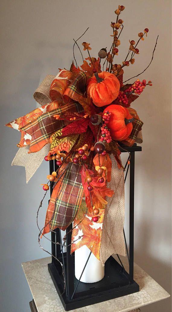 Toile de jute & velours décoratif Automne Fall