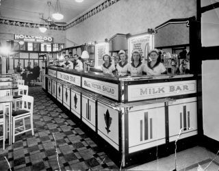 Golden Star Milk Bar, Hay Street, Perth. 1930s