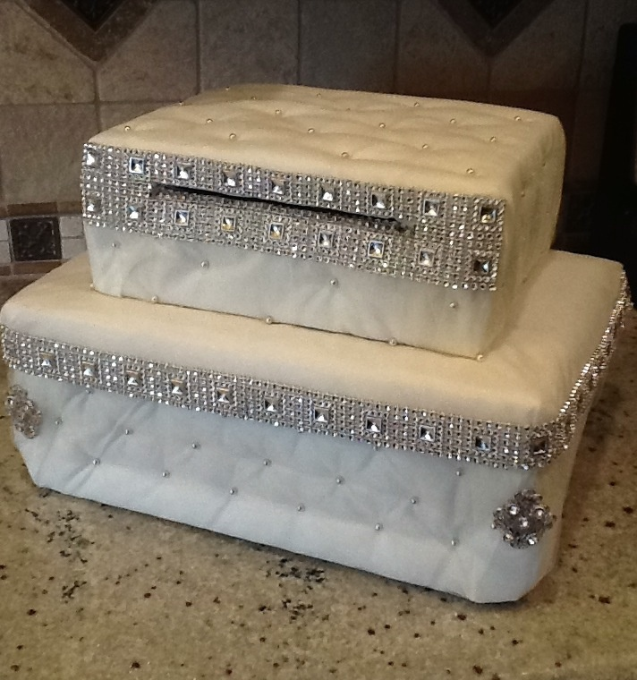 Elegant Wedding card holder Gift card boxes Pinterest
