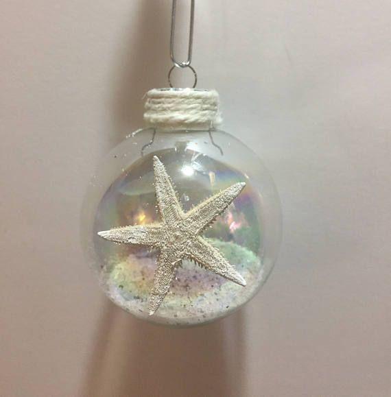 Beach Ornaments, Sea shell home decor, Beach decor coastal, Christmas Ornaments, Coastal decor beach, Starfish decor, Beach wedding gifts