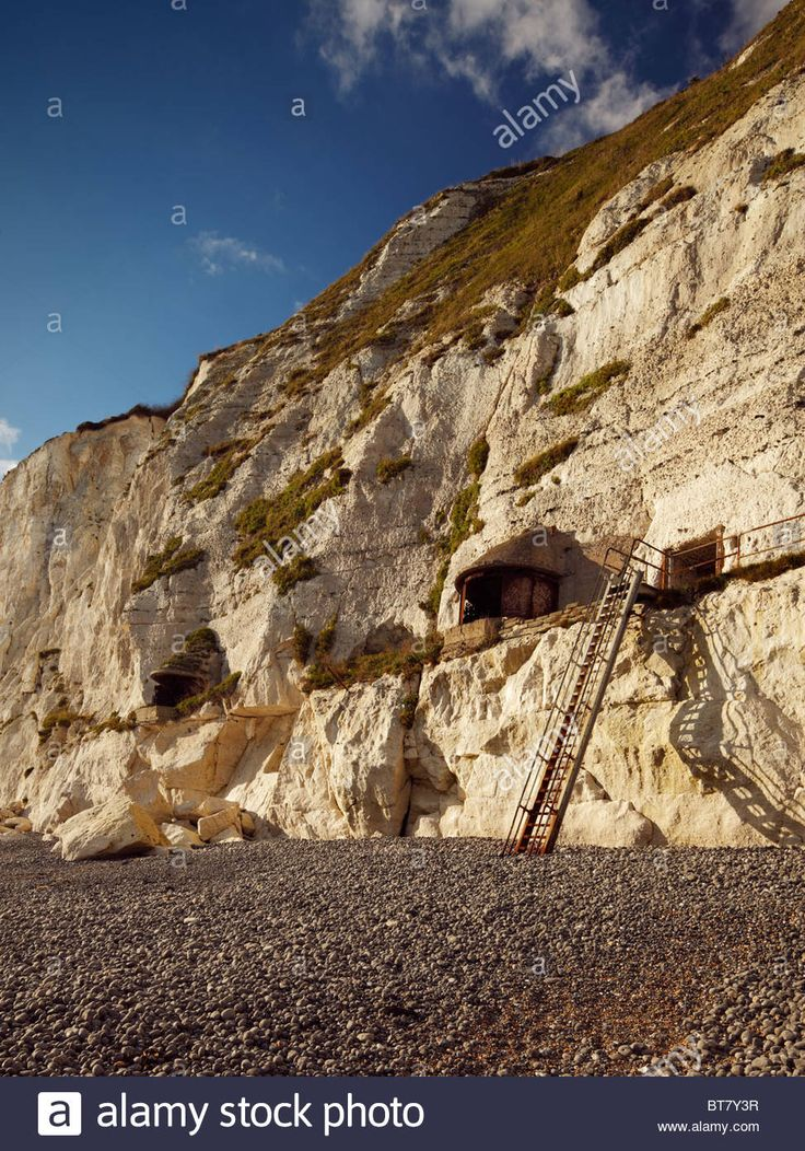 World War I & II searchlight Battery at Langdon Bay, Dover Cliffs Stock Photo, Royalty Free Image: 32137051 - Alamy