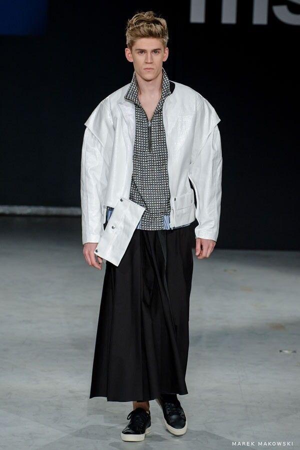 White en jacket