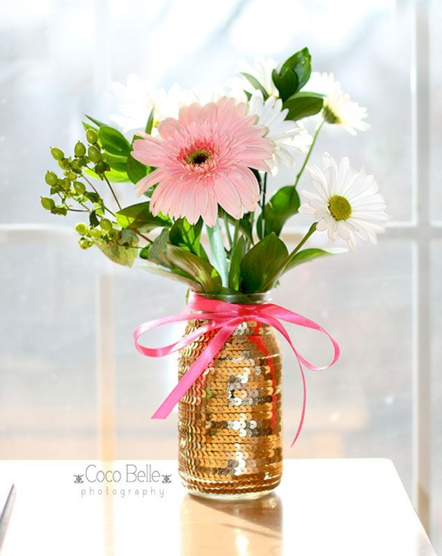 10 DIY Wedding Vases   DIY Sequin Vase   DIY Roundups