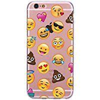 Incendemme Coque Housse / Etui Téléphone en Silicone Souple Unique Emoji Mode pour iPhone