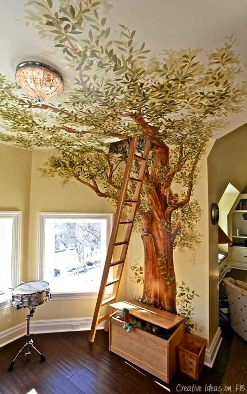 "Cool room image via ""I love creative designs and unusual ideas"" at www.Facebook.com/LoveDesignCreatecom"
