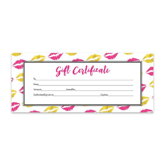 Best 25 blank gift certificate ideas on pinterest free gold lips lips hot pink lipsense pink lips blank gift certificate download gold direct sales premade senegence printable yelopaper Images