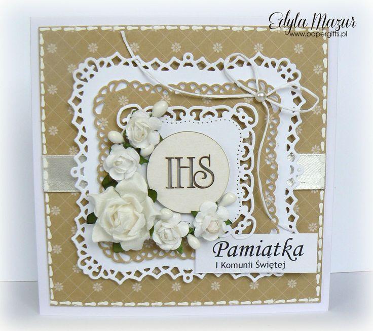 Honey with white roses - Souvenir Holy Communion - Scrapbook.com